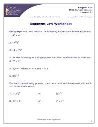 exponent laws worksheet free worksheets library download and