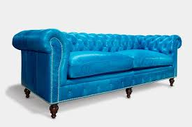 Blue Leather Chesterfield Sofa The Hemingway The American Chesterfield Of Iron Oak