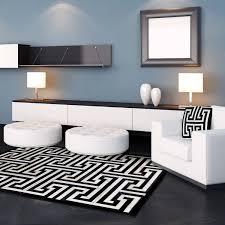 Modern Black And White Rug Best Black Key Rug Home Ideal 29868