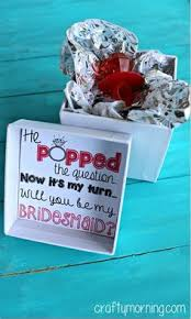 ideas to ask bridesmaids to be in wedding he popped the question bridesmaid ring pop idea free printable