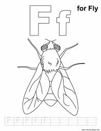 f for fly alphabet s freeee2f coloring pages printable