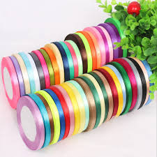 christmas ribbon wholesale 25 yards 6mm single satin ribbon wholesale gift packing