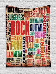 wall hanging tapestry music rock poster effective home decor ebay