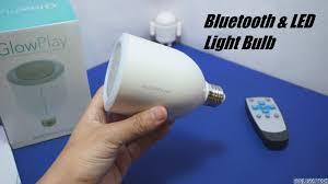 led light bulb speaker glowplay bluetooth speaker led light bulb 20 youtube