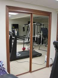 Making Bi Fold Closet Doors by Beautiful Wood Framed Mirrored Bifold Closet Doors Roselawnlutheran