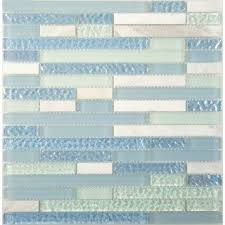 Backsplash Tiles Kitchen Backsplash Glass Tile Oasis - Teal glass tile backsplash