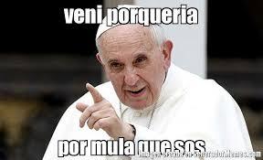 Sos Meme - veni porqueria por mula que sos meme de papa francisco imagenes