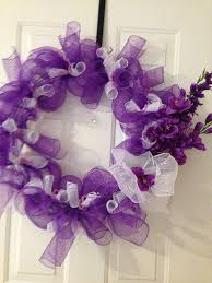 White Deco Mesh 17 Best Purple Wreath Images On Pinterest Purple Wreath Deco