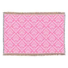light pink throw blanket pink damask wallpaper throw fleece custom blankets zazzle