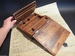 Antique Writing Desks For Sale Amazon Com Antique Style Wood Folding Travel Writing Lap Desk