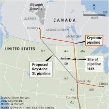 Keystone Map Keystone Pipeline Leak Won U0027t Affect Last Regulatory Hurdle The