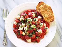 roasted tomato caprese salad simply sated
