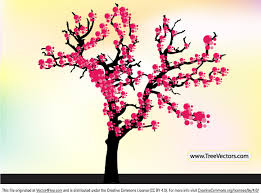 cherry blossom tree vector free vector in adobe illustrator ai