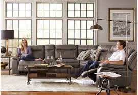 cindy crawford recliner sofa cindy crawford home gray barton springs 7 pc sectional living room