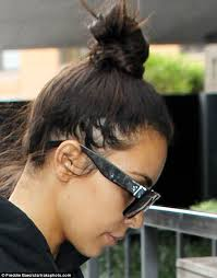 thining hair large ears men kim kardashian reveals patches of hair loss after extensions take