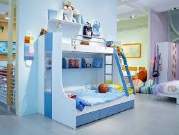 bedroom engaging cool kid beds design with blue white wooden