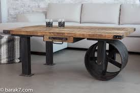 industrial coffee table with wheels new industrial style furniture range from barak 7 the art of