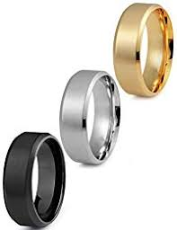 stainless steel rings for men stainless steel rings jewelry clothing shoes