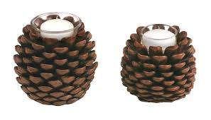 pine cone tea light holder pine cone candle holder and evergreen diy gilesand