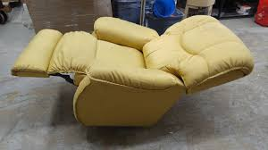 two yellow lazy boy recliner chairs 777 auction