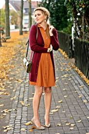 s burgundy open cardigan orange casual dress brown leather
