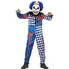 killer clown costume smiffys children s deluxe sinister clown costume jumpsuit mask