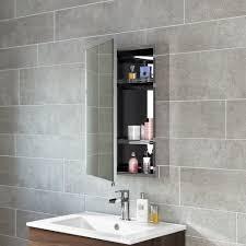 600mmx400mm liberty stainless steel single door mirror cabinet
