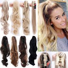 ponytail hair extensions brown clip on hair extensions ebay