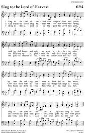 evangelical lutheran worship 694 sing to the lord of harvest