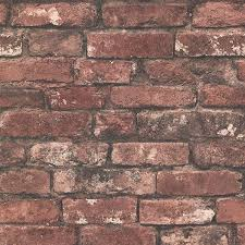 rust exposed brick brickwork wallpaper by beacon house