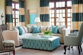 Tan And White Horizontal Striped Curtains Teal And Tan Curtains Decor Mellanie Design
