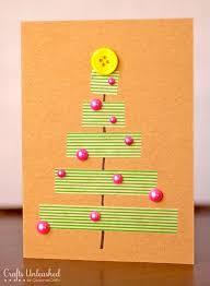 christmas cards to make easy to make christmas cards washi crafts