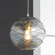 Crackle Glass Pendant Light by Swirling Glass Globe Pendant Light Globe Pendant Light Globe