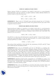 carbonic acid principles of chemistry lab experiment manual