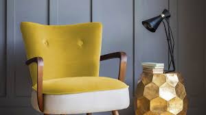 Yellow Velvet Armchair Mustard Our Favourite Colourful Finds The Idealist