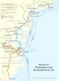 Colonial America 1776 Map by Washington Rochambeau Revolutionary Route George Washington U0027s