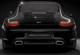 porsche 911 black edition back in black the 2011 porsche 911 black edition