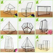 colored diamond clear modern geometric air planter vase display