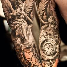 clock men s arm tattoos men tattoo design images free