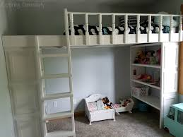 play room loft bed with organization exploring domesticity