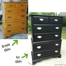 Black Dresser And Nightstand My Favorite Dresser And Nightstand Makeovers Green With Decor