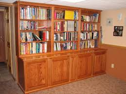 mahogany bookshelf and file cabinet unit for home library modern