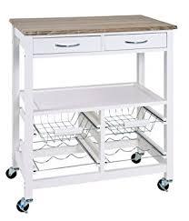 chariot de cuisine haku 40331 chariot de cuisine en mdf blanc 37 x 68 x 84 cm amazon
