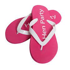Designerk Hen Pink Hen Party Flip Flops By Bc Softwear