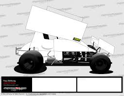 3 best images of stock car graphics design template sprint car