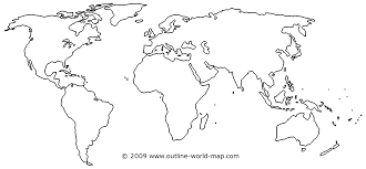 Seven Continents Map Blank Seven Continents Map Within Unlabeled World Besttabletfor Me