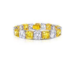bracelet diamond yellow images Emerald cut yellow and white diamond bracelet graff png
