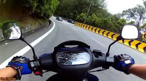 yellow volkswagen karak highway genting downhill yamaha 125zr youtube
