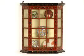 Curio Cabinet Lighting Curio Cabinet Antique Wallio Cabinet Cabinets Display Case Tags