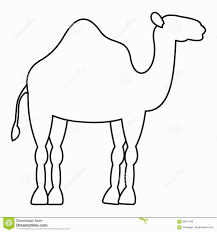 bright modern camel outline picture template tattoo clipart